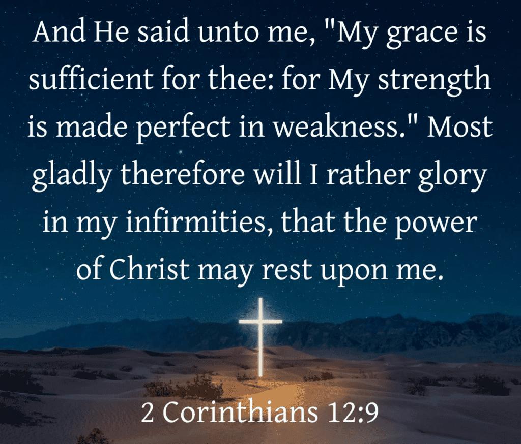 2 Corinthians 12:9 verse