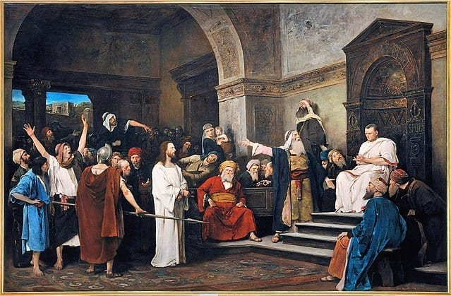 Christ in front of Pilate